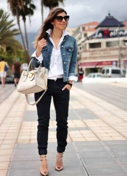 The denim jacket . Look estilo Denim 2014.
