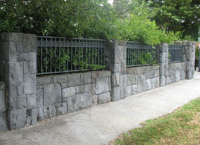 front boundary wall and pillars