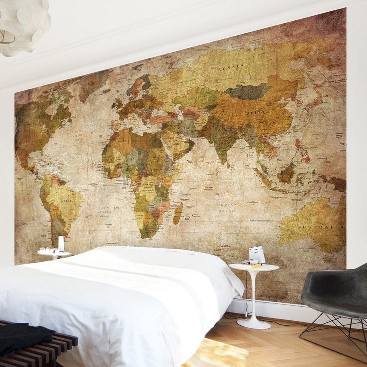 Bilderwelten Vliestapete Premium Breit »Weltkarte«