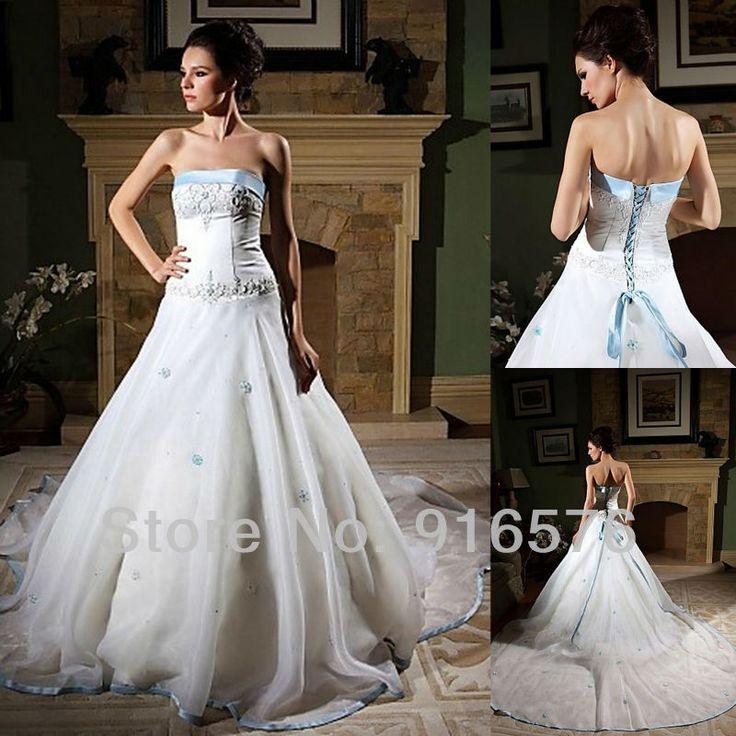 Традиционные свадебные Платья Свадебные Платья Женщин Скидка Свадебные Платья Линия Органзы Часовня Поезд Вышивки Атласной Края