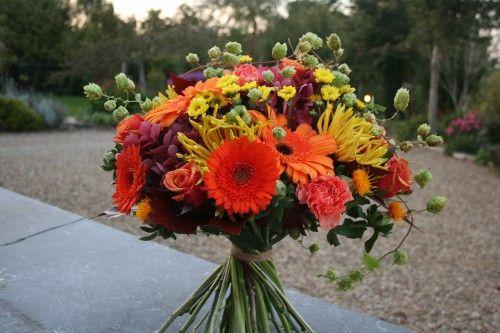 Picture of 10 Best flower bouquet photos free for flower wallpaper No 7 - orange Hydrangea