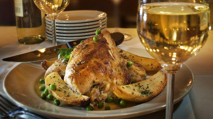 Chicken Vesuvio is a true Chicago classic, served in many of the Italian restaurants in town. It's fried and then baked with plenty of garlic, olive oil and