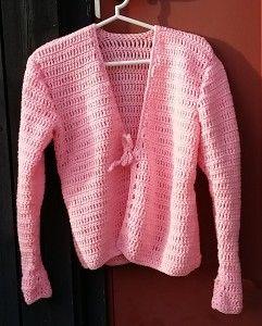 pink crochet sweater virkad rosa kofta med knytning odd molly inspireradhttp://www.markazits.com/blogg/virkad-rosa-kofta/ sweater