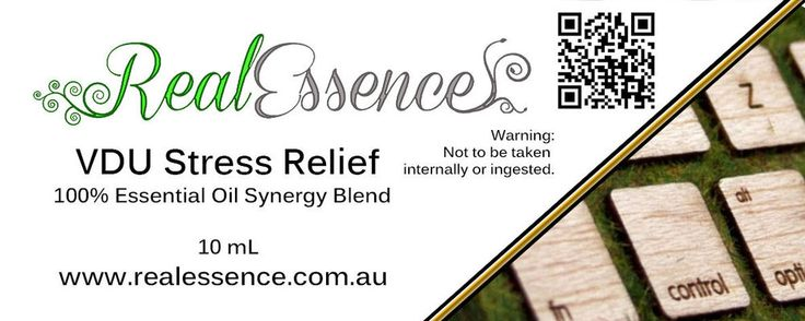 VDU STRESS Relief - Essential oil Synergy blend 100% Pure in a 10ml amber bottle