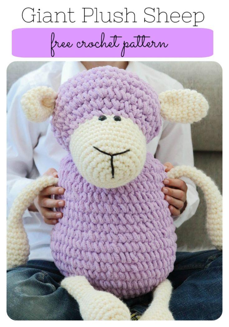 Giant Crochet Plush Sheep