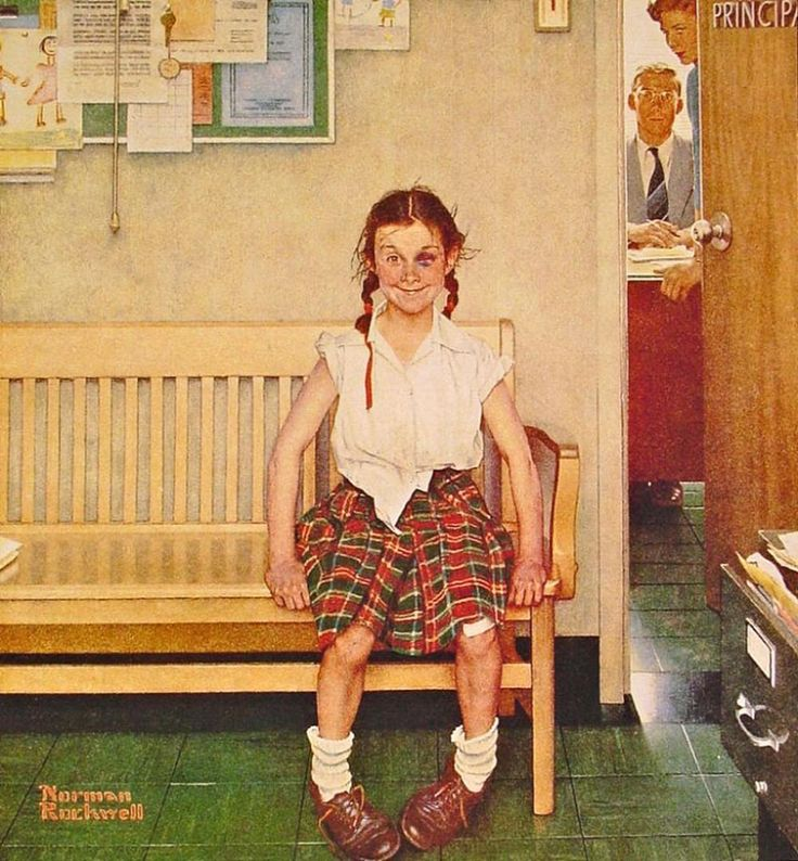Rockwell, Girl with Black Eye