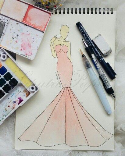 Mermaid peach gown   #fashion #fashiondiaries #fashionblog #fashionweek #fashionillustration #fashionillustrator #fashionista #fashiondrawing #fashiondraw #fashionlook #lookbook #look #instafashion #couture #gown #dress #dresses #outfit #instafashion #vscocam #vsco #art #fashiondesign