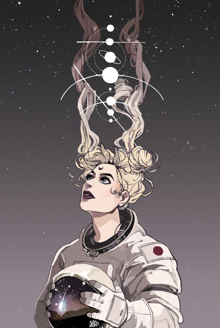 Sailor Moon // Space // fanart // usagi // Sabrina //