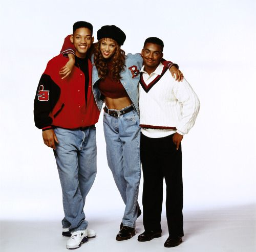 Will Smith, Tyra Banks, and Alfonso Ribeiro in The Fresh Prince of Bel-Air (1993)