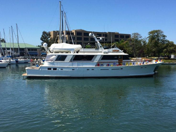 1980 Hatteras 80 Cockpit Motor Yacht Power Boat For Sale