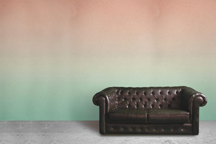 Peach and Turquoise Fade Ombre Wall Mural