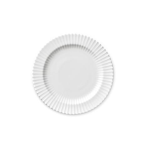 Frokosttallerken - 20 cm hvid porcelæn