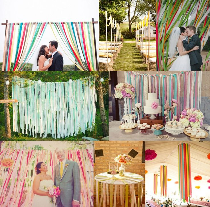Ribbon Wedding Ideas Ceremony Reception Decor Hanging