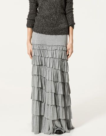 17 Best images about ruffled skirt ideas on Pinterest | Maxis Maxi skirts and Skirts