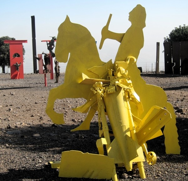 Don Quixote As Presented By Israeli Sculptor, Yigal Tumarkin, At Bellevoir  Crusader Fortress, · Metal WorkModern ArtContemporary ...