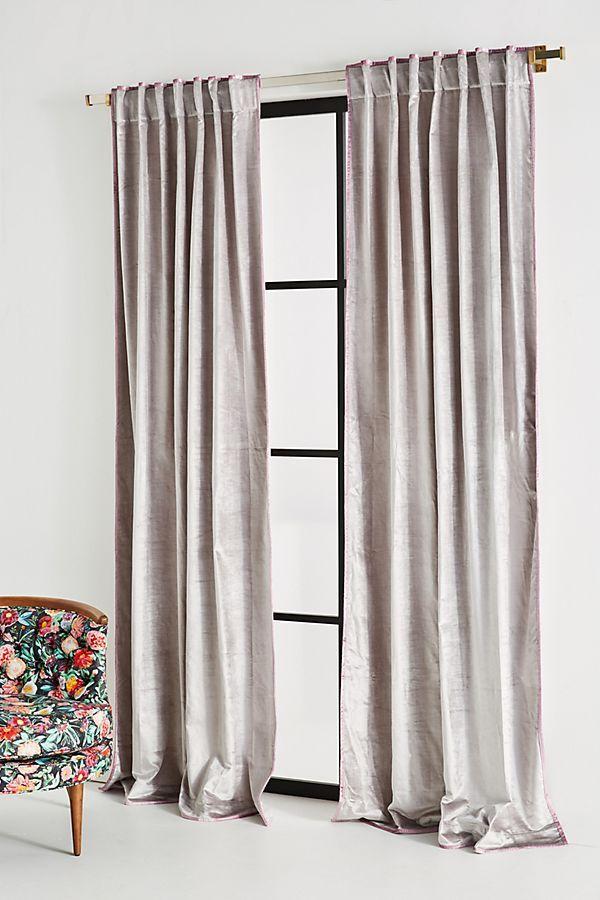 Slide View 1 Petra Velvet Curtain Velvet Curtains Curtains Living Room Grey Velvet Curtains