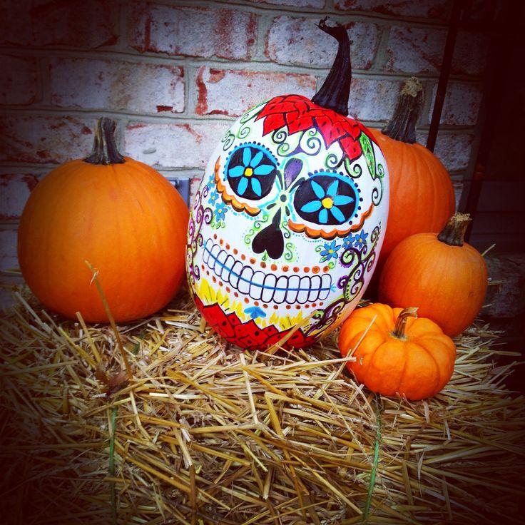Ideas about sugar skull pumpkin on pinterest