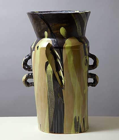 Allison Britton , a photo of a large jar resembling a milk churn with four small handles