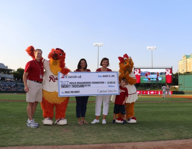 Carnival Cruise Line Presents $20,000 Check to Frisco RoughRiders Representing Proceeds from Season-Long 'Pass The Boot' Promotion | 3BL Media