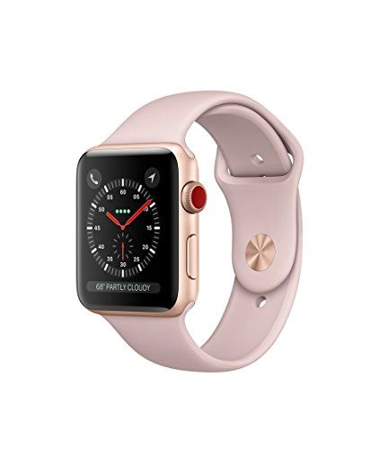 #Apple watch series 3 Aluminum case Sport 42mm GPS  Cellular GSM unlocked (Gold Aluminum case with pink sport band (GPSCELLULAR))