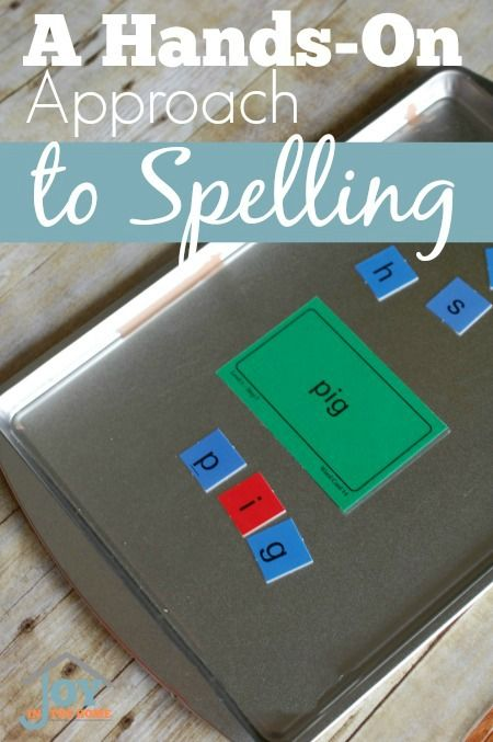 A Hands-On Approach to Spelling