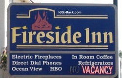 stay at the Fireside Inn at Morro Bay, Ca