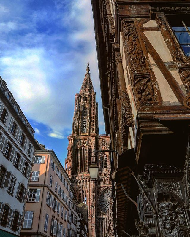 One of the capitals of Europe and one of the most beautiful cities of France . . . . . #strasbourg #ストラスブール #Страсбург #Estrasburgo #스트라스부르 #斯特拉斯堡 #travel #travelgram #beautyoffrance #visitfrance #patrimoine #picoftheday #Strazburg #cathedral #cathedral #catedral #主教座堂 #大聖堂 #대성당 #Katedrali #собор #Katedral #สทราซบูร์ #heritage #gothic #architecture #architecturelovers #alsace #alsacetourisme
