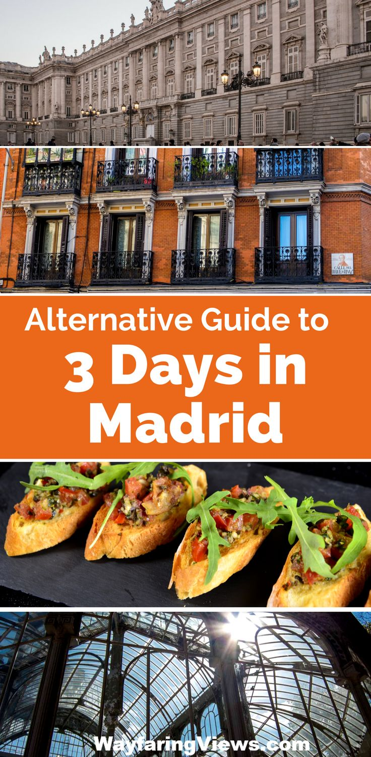 Spend three days in Madrid going beyond the the obvious and explore three cool neighborhoods. Things to do in Madrid | Madrid museums | Tapas | Madrid Nightlife | Itinerary for what to do in Madrid