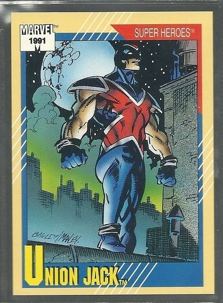 1991 Marvel Trading Card # 24 Union Jack - just won for Free!   the history of Union Jack @ http://en.wikipedia.org/wiki/Union_Jack_(comics)