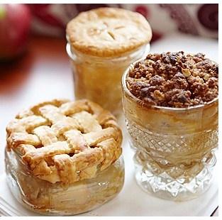 Tiny pies in a Mason Jar