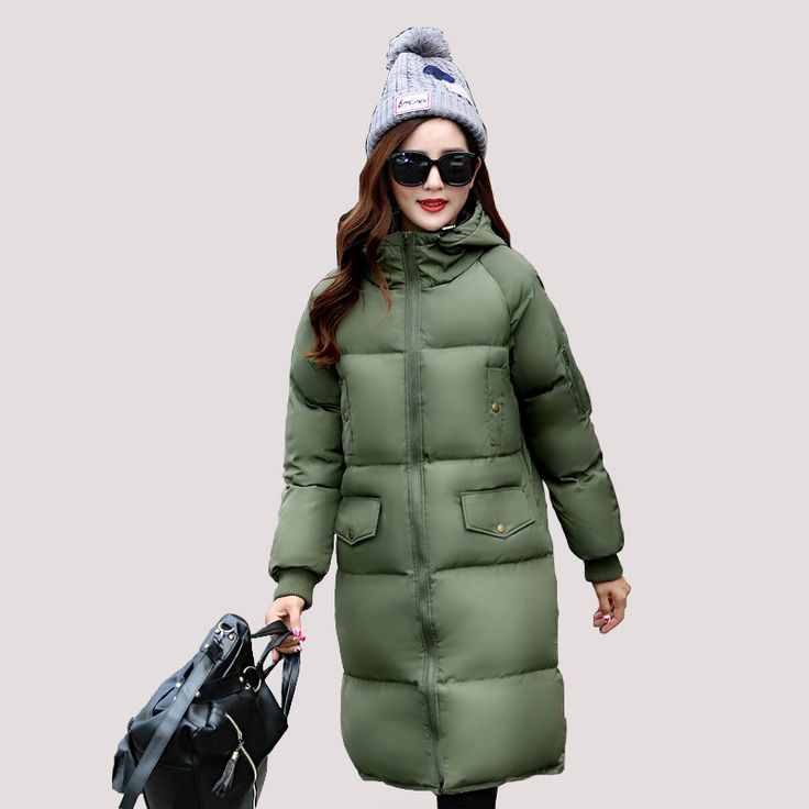 Fashion Winter Jacket Women 2017 Solid color Thick Warm Female jacket Cotton padded coat parkas Hooded jaqueta feminina inverno  #Affiliate