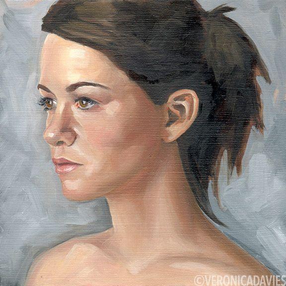 "Portrait Study 2, Oil, 8"" x 8"""