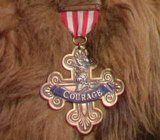 The Cowardly Lion's 'Courage' medal from The Wizard of Oz