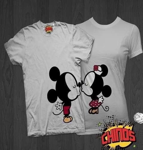 Playeras Para Parejas Novios Amigos 14 De Febrero Mickey Pictures to ...