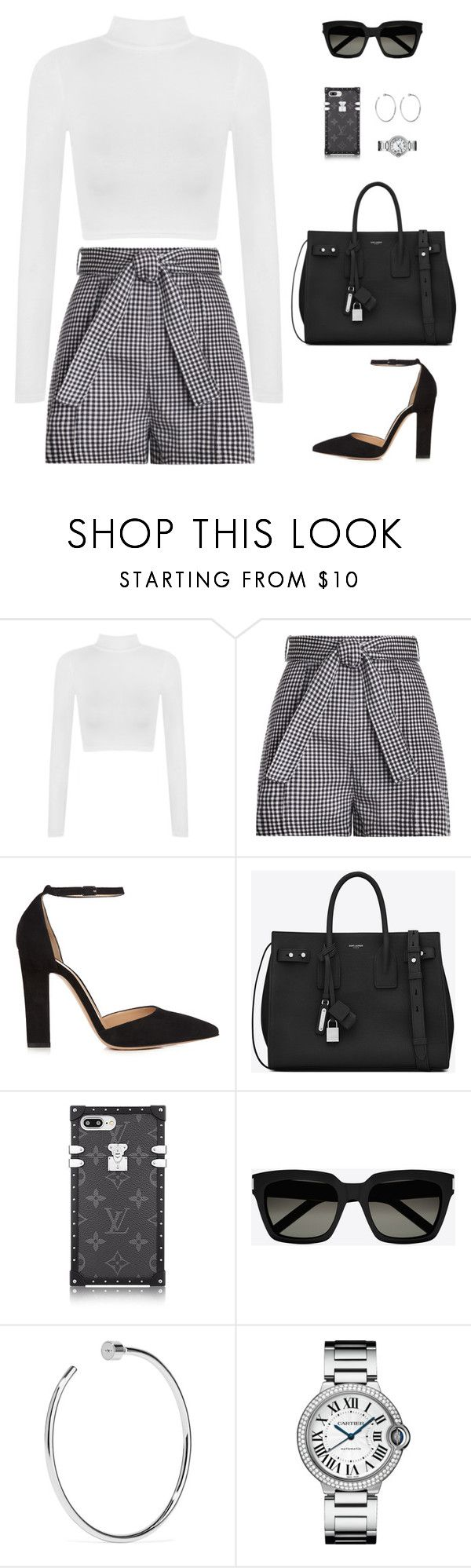 """Sin título #4743"" by mdmsb on Polyvore featuring moda, WearAll, Zimmermann, Gianvito Rossi, Yves Saint Laurent y Jennifer Fisher"