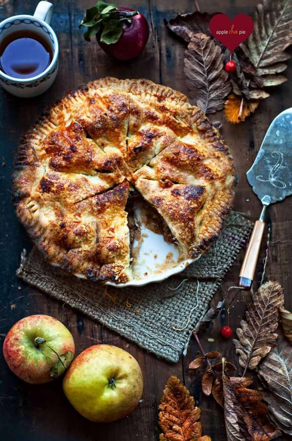 apple chai pie, I don't really like apple pie, but I love chai so this could be delicious!