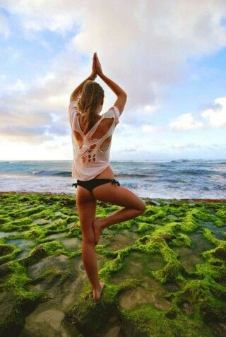 Yoga - and the ocean , just the best