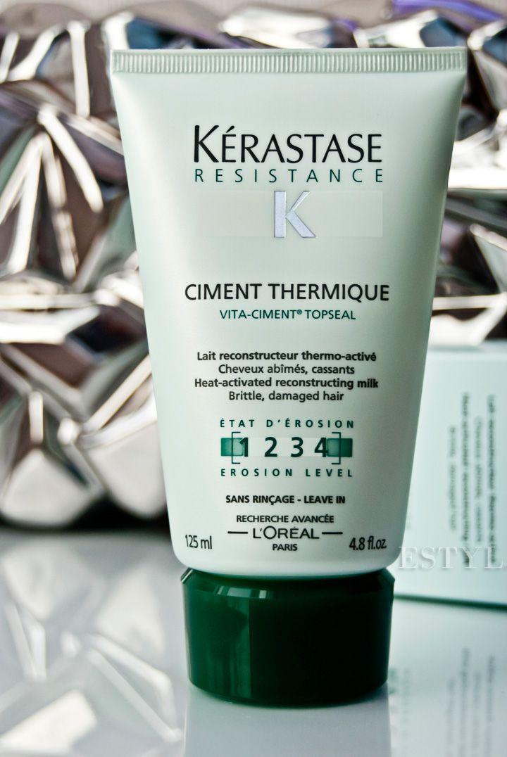 Cement termiczny Kerastase nie tylko zabezpiecza włosy przed lokówką, prostownicą czy suszarką, ale gwarantuje też pełna ochronę i odbudowę włosa. Dodajmy też, że nie obciąża i nie przetłuszcza delikatnych, cienkich włosów.