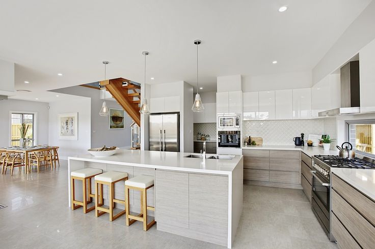 Mincove Homes Kitchens, White, Concrete Pendants
