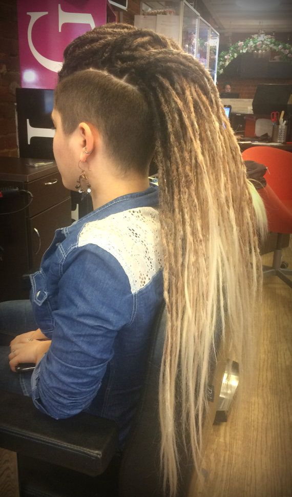 x10 or FULL SET synthetic double ended dreadlocks hair extension OMBRE black to brown to blonde dread 20-25 inches dreads Basilisk de se