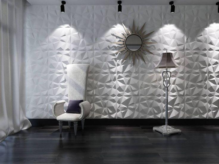 Upea Diamond 3D-sisustuslevy tuo uutta tyylikästä ilmettä niin kotiin kuin julkisiin tiloihin.