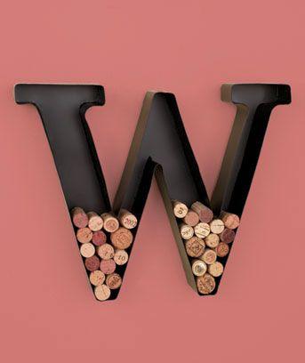 Metal Monogram Wine Cork Holders ($6.95 from www.ltdcommodities.com)