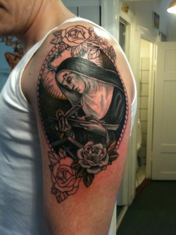 Saint Rita left arm | Tattoo | Pinterest | Saints