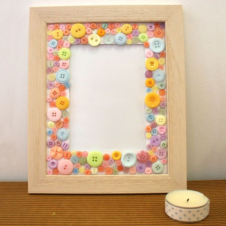 Button frame craft ideas inspirational projects for Picture frames for crafts