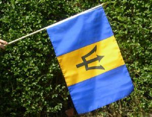 Barbados flag.