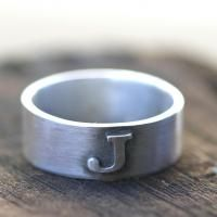 LOVE this monogram ring from Monkeys Always Look! What a great wedding ring or any day ring!: Idea, Wedding Rings