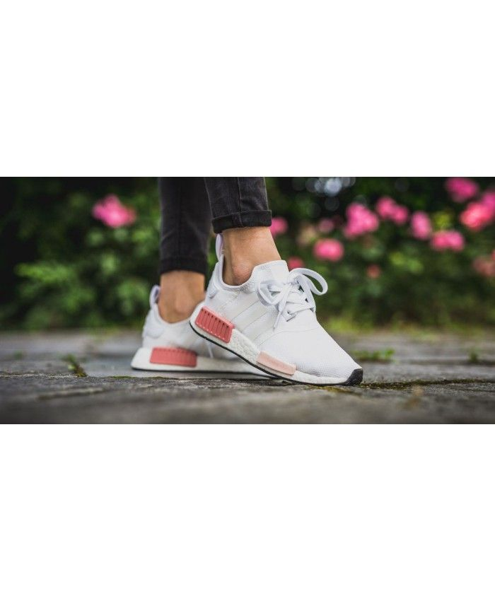 wholesale dealer 12988 cfbe7 Adidas NMD R1 Baby Pink White Trainers Sale UK | Shoes | Adidas nmd ...