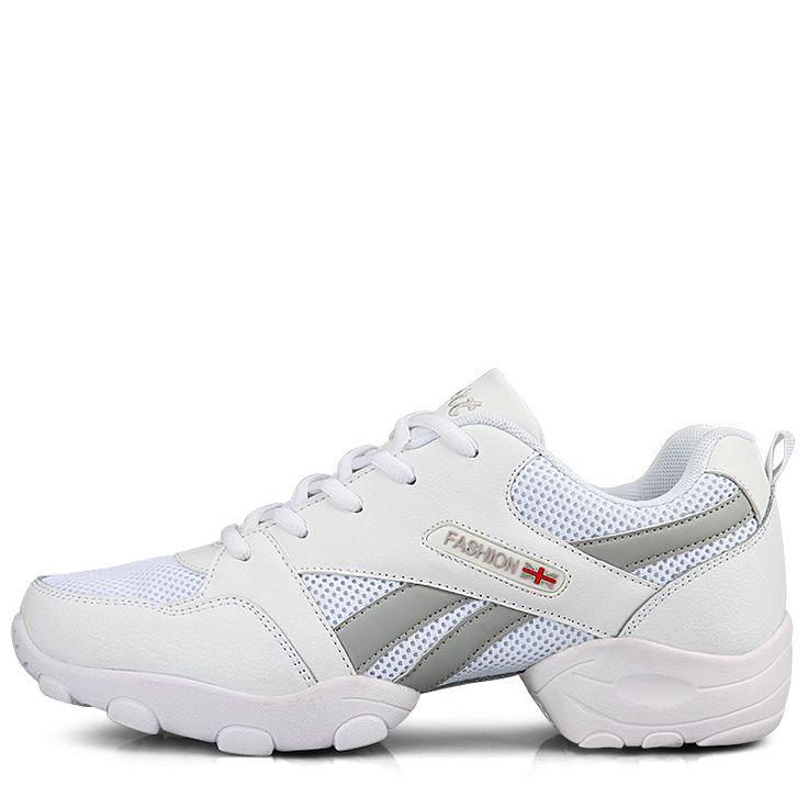 Genuine Leather Breathable Dancing Shoes for men Jazz Shoes Lightweight Soft Outsole Black White Zapatillas De Jazz Size 39-44
