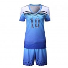 Custom Sublimated Women's Volleyball Kit is constructed of 100% Moisture Wicking Cool Polyester a performance fabric that keep you cool and dry.