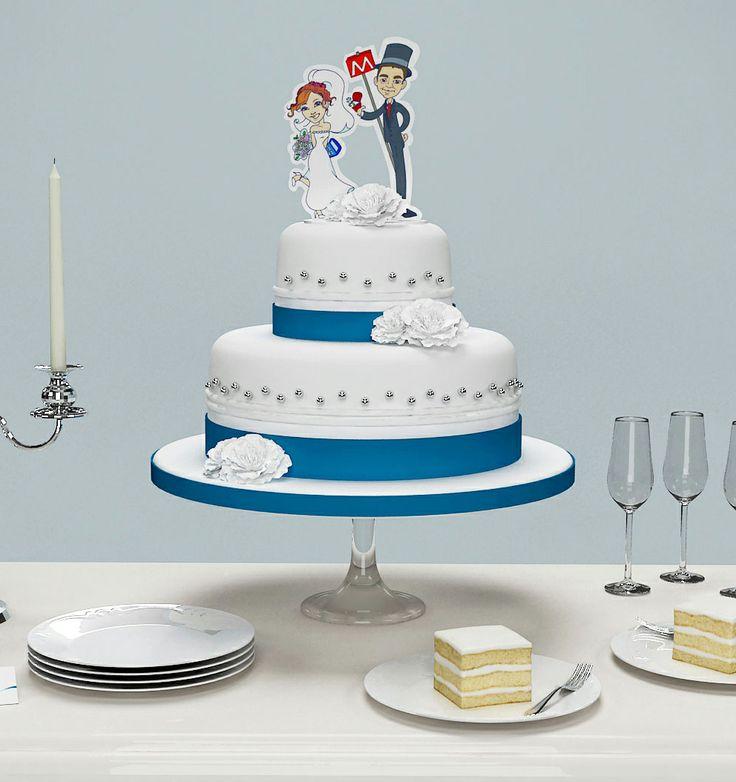 """Essere i protagonisti indiscussi anche della torta non ha prezzo! """"Top Cake personalizzato con illustrazione o caricatura degli sposi"""""""